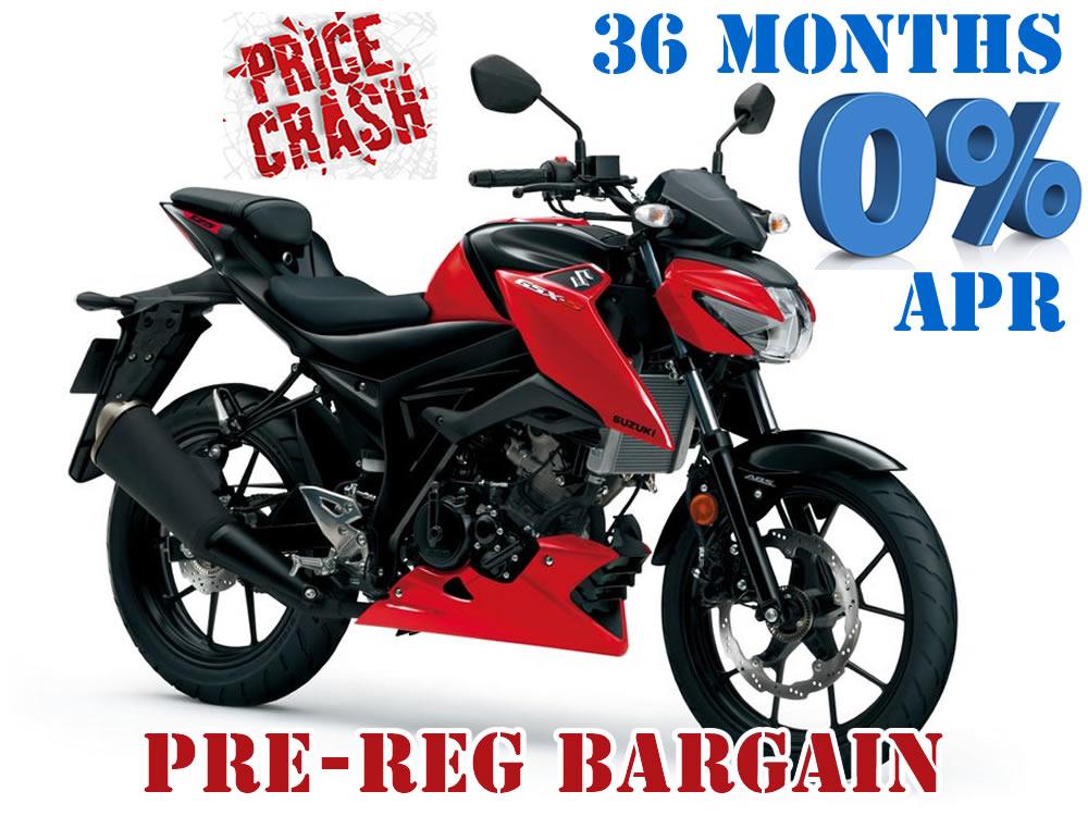 GSX-S125 A L8, Pre reg bargain